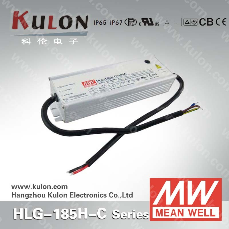 MEAN WELL HLG-185H-C1400 Constant current 1400mA dimmable led driver