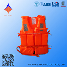 Wholesale Orange Color High Standard Personalized Marine Life Jacket Foam