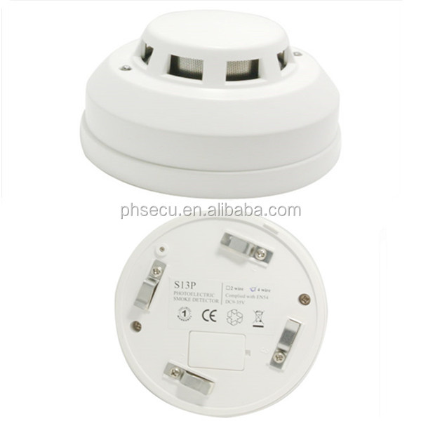 outdoor Remote LED relay output 24V four wire smoke detector for security alarm systerm