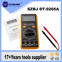 Ce Certification Pocket Digital Multimeter dt9205a With Low Price