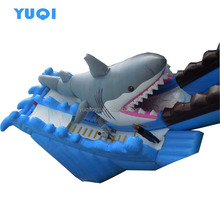 Factory direct sale new giant inflatable shark cartoon slides for water park high quality and cheap