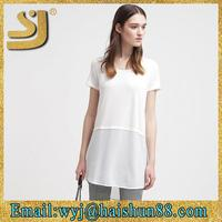 modern plain white cotton fabric,cotton white tshirt,plain white round neck t-shirt