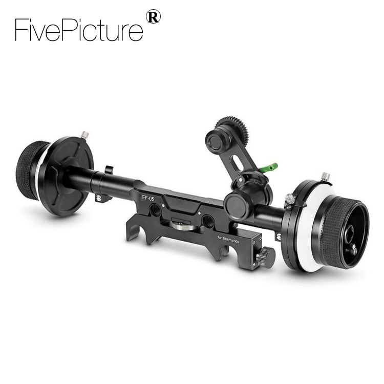 Dual Follow Focus for DSLR 15mm/19mm Red Scarlet Epic FS700 BMCC C300 C500 Rig Video Film Shooting