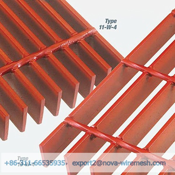 Different color ( red , green , blue , yellow , black) painted steel grating / grid decking