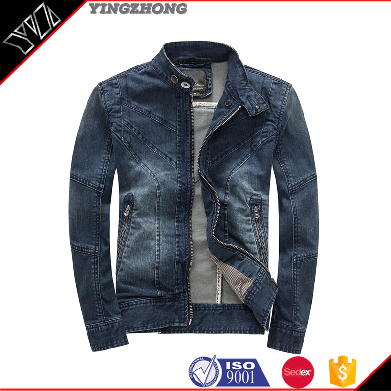 high quality denim jacket fashion mens dip dyed denim jeans jacket winter