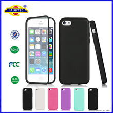 TPU Wrap Phone Case Cover With Built In Screen Protector For iphone 5G 5S Laudtec