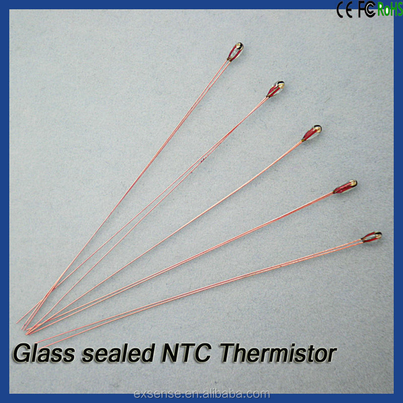 Non-insulated or insulated dumet wire NTC thermistor sensor
