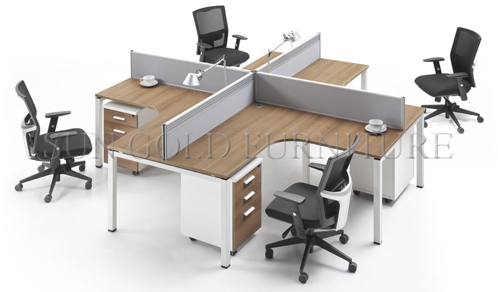 Bright New Modern L Shape Workstations Office Cubicles