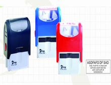 promotional plastic new designed rectangle self-inking stamps 47*18mm