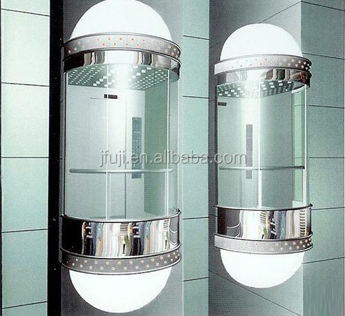jfuji hot sales luxury panorama lift with ARD ,all glass