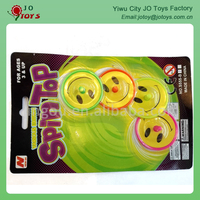 Plastic Smiley Face Spinning Top Capsule Toy