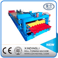 New design automatic glazed roof tile roll forming machine/metal roof making mchine Chinese manufacture