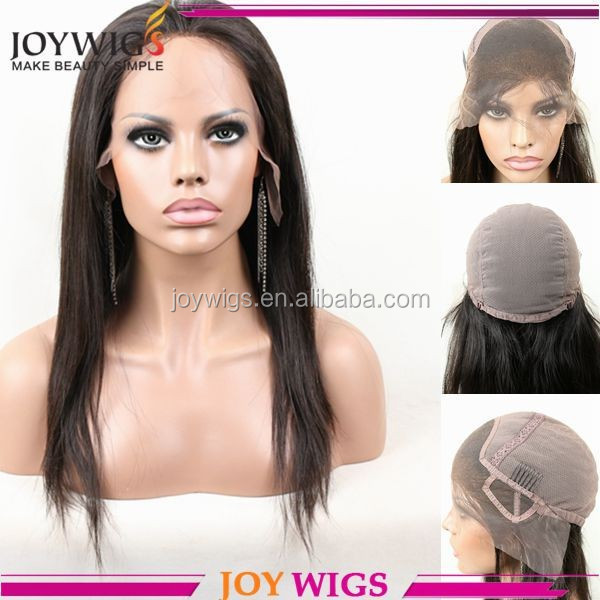 Hot selling 100% brazilian human hair lace front wig cap with adjustable strap