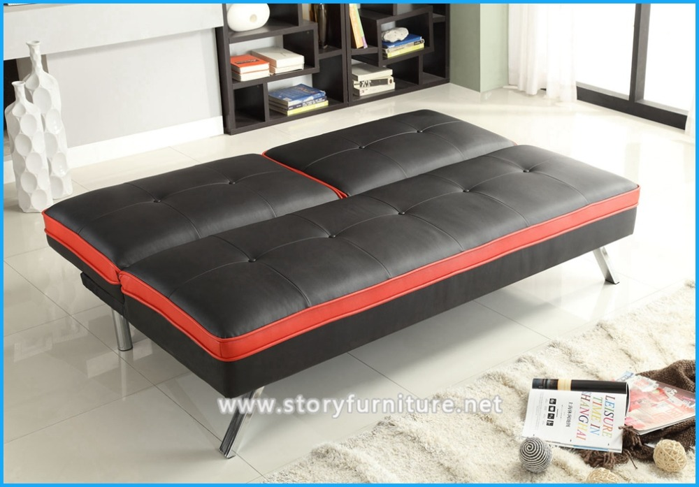 hiqh quality pvc folding sofa bed divan sofa bed with arm from manufacture