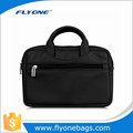 Classic black design easy carrying mens latop sleeve bag