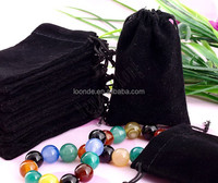 wholesale custom drawstring large black jewelry velvet bag for gifts