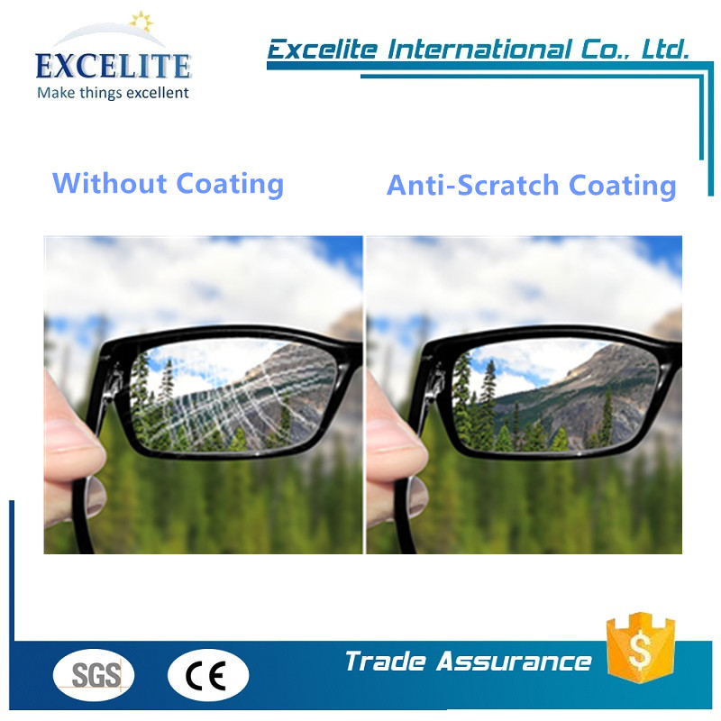 Optical clearity hard coating plastics with advanced test