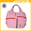 beautiful lady trendy pink handbag canvas tote bag