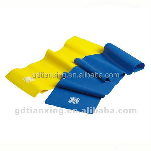 liquid color ful rubber resistance band latex bands for gym
