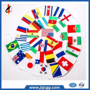 Cheap fabric bunting Decorative wedding party string flag