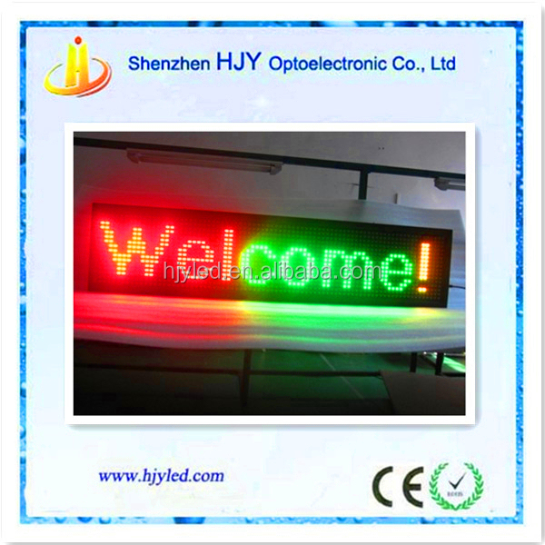small billboard p16 outdoor programmable led moving message sign board