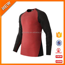 Compression wear sports mens long sleeve t shirt fitness clothing t shirt custom design bulk plain t-shirt in cheap price