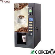 3 hot drinks selections coin operated coffee vending machine