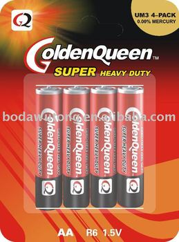 super heavy duty AA battery battery