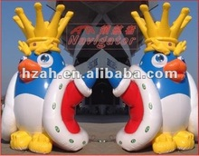 Inflatable chickens with crown