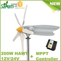 Horizontal 200W 12V/24V Rooftop Wind Turbine