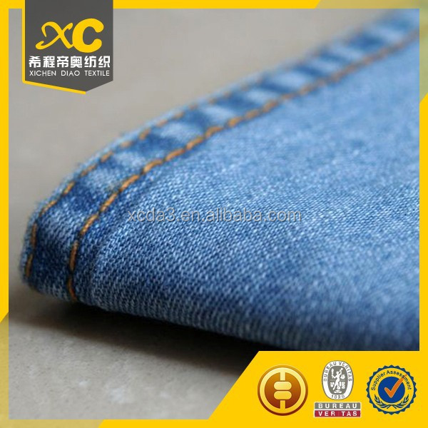 peru buying cotton polyester colored denim fabric