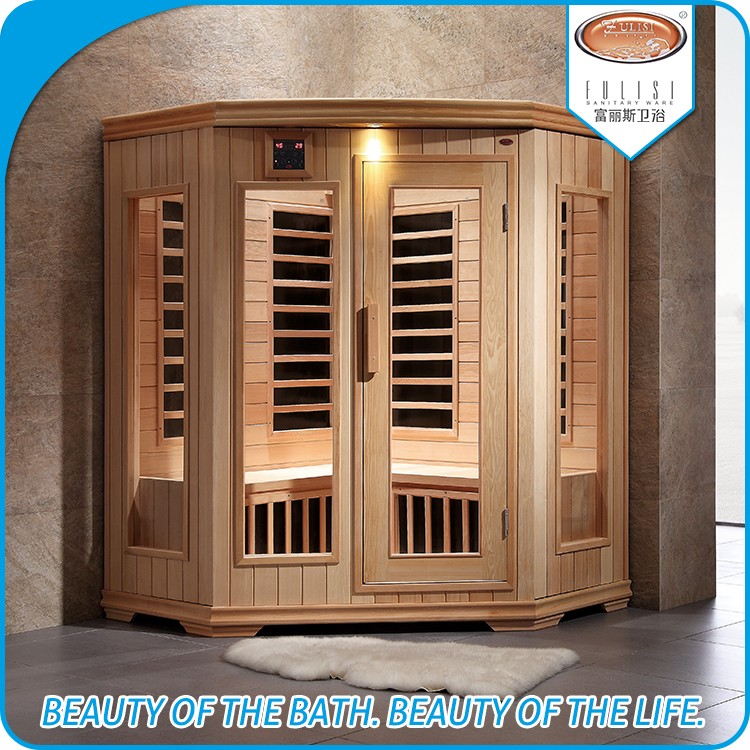 Wooden home use sauna cabin with far infrared carbon heat