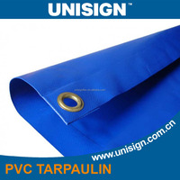 PVC coated canvas tarpaulinfor truck cover with eyelets