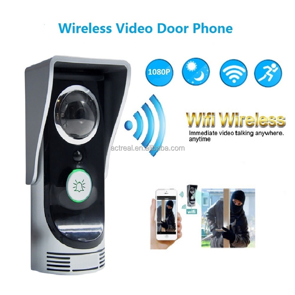 Smart Doorbell Audio Wifi Wireless Visual Door Bell With Camera With Monitor Sensor Night Vision