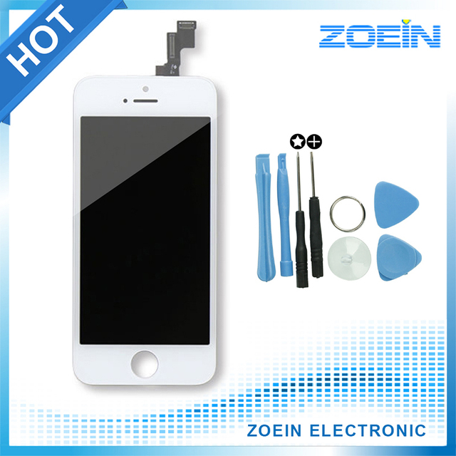 2016 Hot sale Replacement Screen LCD For iPhone 5s 5 Display With Digitizer Touch Screen Assembly High Quality In Black White
