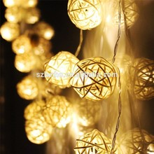 christmas decorative LED Rattan ball string holiday lighting Fairy Lights For Christmas Xmas Wedding Decoration Party