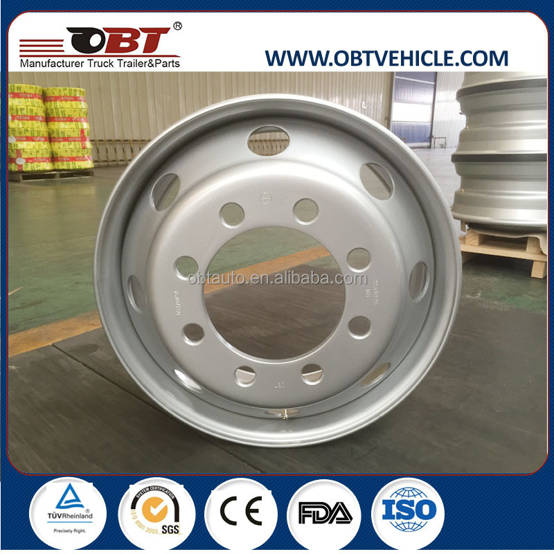 2016 heavy truck 19.5 22.5 tubeless steel alloy wheels