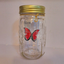 UCHOME 17cm Height Glass Electronic Butterfly In a Jar