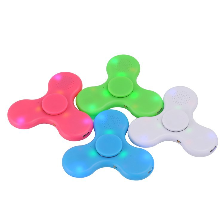 Led bluetooth hand spinner led speaker fidget spinner