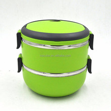 School children stainless steel lunch box with compartments