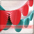 New Arrived Paper Fan Bunting Garland Fresh Flower Garland