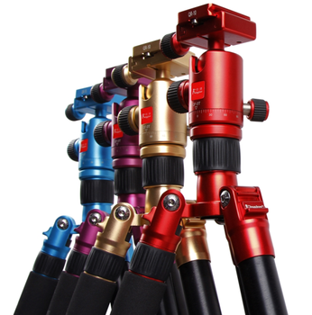 Kingjoy private labelAC-258C Auto Level Folding Colorful Broadcast Camera Tripod with 360 Degree Panoramic Head
