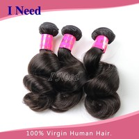 wholesale virgin eurasian hair shinning brazilian loose wave 7a grade hair