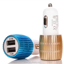 5V 2.1A 3.1A dual mini USB car charger for Bus/Auto/Marine /Motor