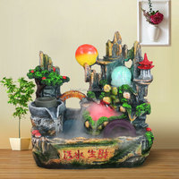 Polyresin tabletop fountain resin water fountains indoor rolling ball water fountain