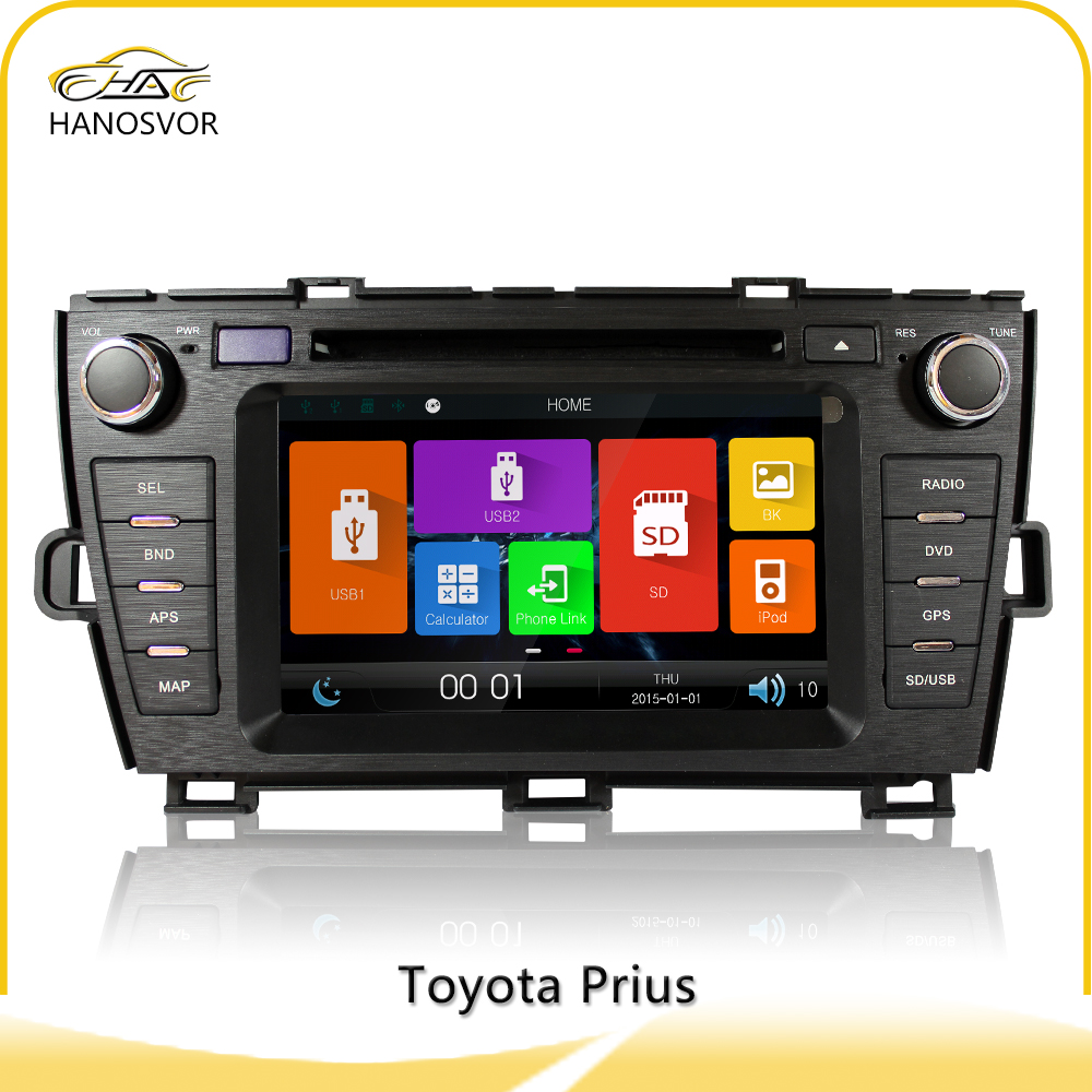 Windows ce 6.0 Touch Screen 2din car dvd player for Toyota Prius (Left Driving & Right Driving)