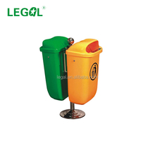 LD-50C-2 50 Liter Advertising Trash Can Decoration Plastic Dino Bin