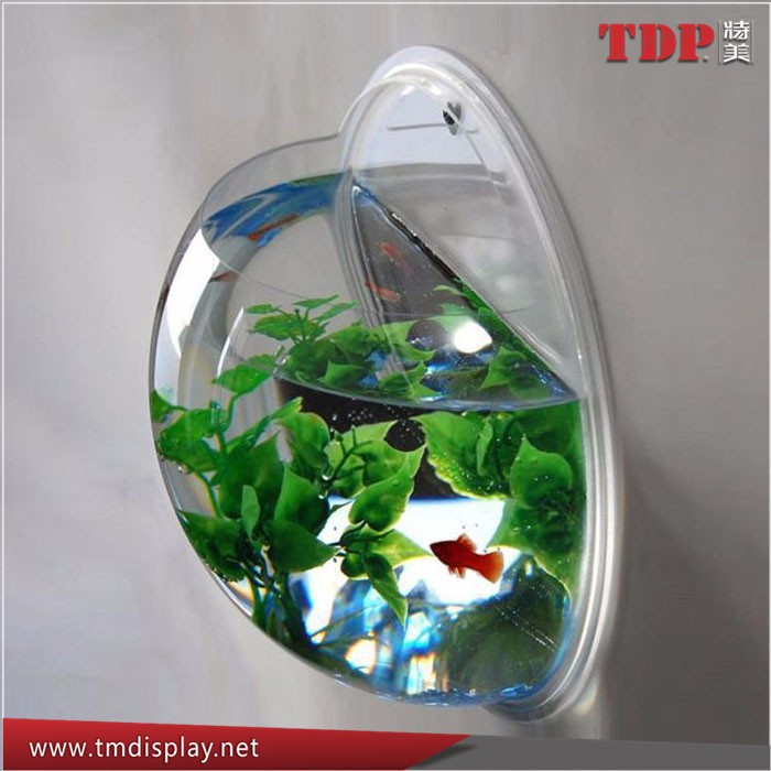 Unique Wall Mount plastic Clear Acrylic Fish Bowls Fish Tank artificial fish aquarium