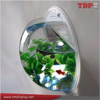 Unique Wall Mount plastic Clear Acrylic Fish Bowls Fish Tank artificial fish aquarium
