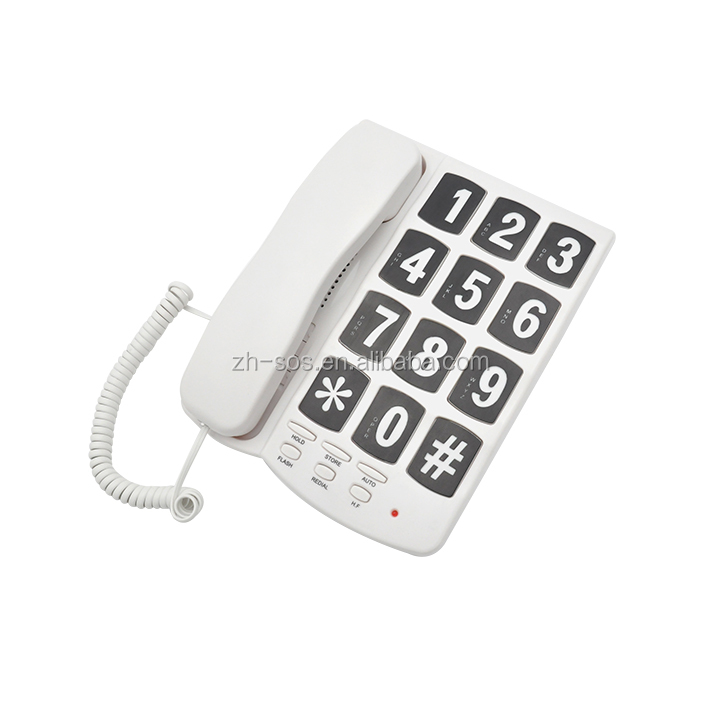 Hearing aid Compatible Function big button fixed telephone